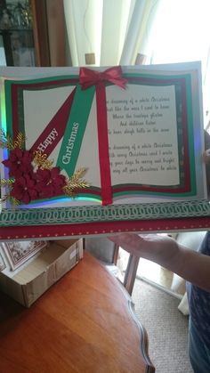 Using the new tattered lace book set and poinsettia trio set. Christmas 2015, Christmas Goodies, Vintage Christmas, Christmas Crafts, Book And Frame, Crafters Companion Cards, Glitter Girl, Card Designs, Xmas Cards