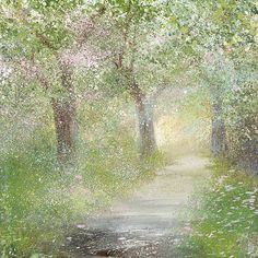 By Amanda Hoskin - the blossoms are falling all over! It's snowing!