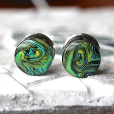 5/8 Gauges Polymer Clay Plugs Clay Gauges Resin by FashionPlugs, $29.00