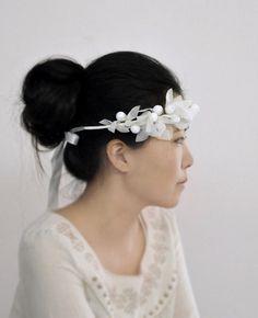 White Fairy - one of a kind wedding crown, bridal headpiece