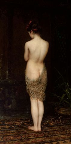 Bathing Girl di Pantaleon Szyndler del 1880