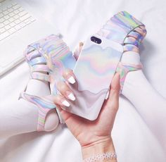 Designer Clothes, Shoes & Bags for Women Filles Alternatives, Space Grunge, All Things Cute, Winx Club, Hologram, Sock Shoes, Phone Accessories, Just In Case, Iridescent