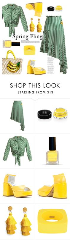"""Spring Fling!"" by misshonee ❤ liked on Polyvore featuring ADRIANA DEGREAS, Givenchy, MM6 Maison Margiela and Dsquared2"