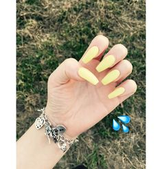 Yellow nails  # Coffin shape.