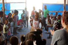 We played new games with a lot of kids in Haiti.