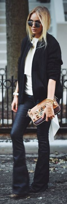 Nina Suess Black And White Stylish Fall Inspo