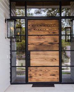 House entrance design entryway garage Ideas for 2019 Modern Entrance, Modern Front Door, House Front Door, Entrance Design, Front Door Design, Glass Front Door, House Entrance, Entrance Doors, Glass Door