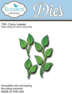 Elizabeth Craft Designs Die, Curvy Leaves