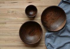 Walnut side bowls    April not June