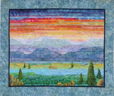 Painterly Sunset by Cathy Geier