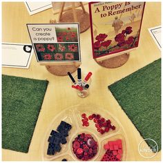 A Pinch of Kinder: Kindergarten Remembrance Day Activities - Can you create a poppy with loose parts? Remembrance Day Activities, Remembrance Day Art, Full Day Kindergarten, Kindergarten Centers, Kindergarten Classroom, Classroom Ideas, Poppy Craft, Anzac Day, Amigurumi