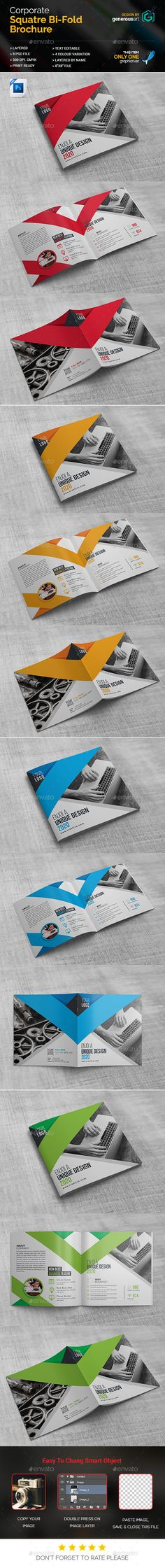 Square BiFold — Photoshop PSD #green #white • Available here → https://graphicriver.net/item/square-bifold/18383234?ref=pxcr