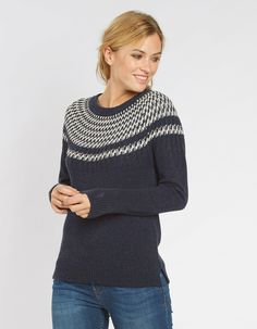 Main image showing Lara Pattern Jumper Sweater Outfits, Sweater Cardigan, Fat Face, Autumn Winter Fashion, Winter Style, Knitwear, Style Me, Pullover, Clothes For Women