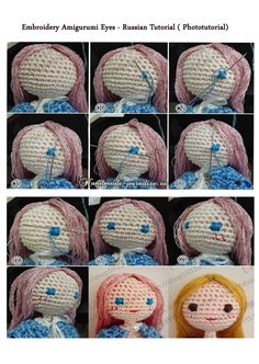 Amigurumi Eyes Embroidery : Embroidery Amigurumi Eyes - Russian Phototutorial here ...