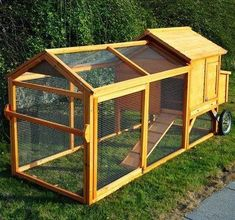 Chicken Coop - movable chicken coop on wheels | Portable Backyard Wooden Chicken Coop Hen House Tractor w/ Fenced Run ... Building a chicken coop does not have to be tricky nor does it have to set you back a ton of scratch.