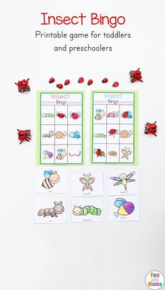 Insect Printable Bingo Game For Kids