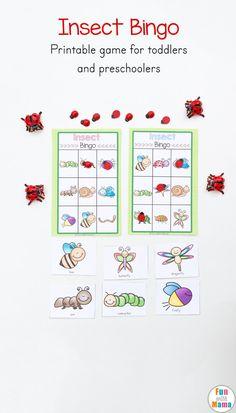 Insect Printable Bingo Game For Kids - Fun with Mama