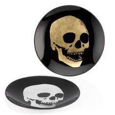 Morton Skull Appetizer Plate - Sets of 4 from Z Gallerie