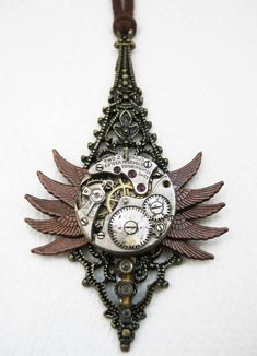 Steampunk necklace bug by voltagepoint