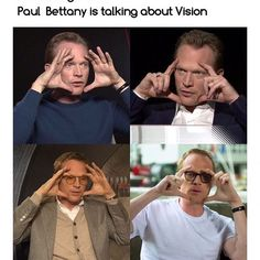 He has done this, literally in all the interviews  . . . Hands down to my man who spent two hours everyday turning into vision #paulbettany #thevision #mcu