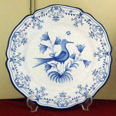 #plato pájaros cuarteado