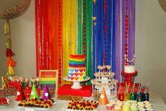 "Rainbow Hearts Sweet Table via  ""An Inspired Party"""