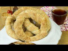 Simit- covrigi turcești cu susan - rețetă de patiserie! - YouTube Onion Rings, Sweets Recipes, Breads, Ethnic Recipes, Youtube, Food, Buns, Bread Rolls, Essen