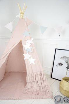 Teepee Nursery, Garland Nursery, Star Nursery, Matilda, Fabric Stars, Star Garland, Baby Boy Rooms, Bunting, Crib