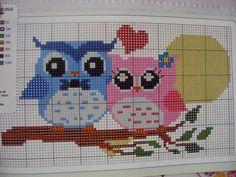 Cross Stitch Owl, Butterfly Cross Stitch, Simple Cross Stitch, Cross Stitch Samplers, Cross Stitch Charts, Cross Stitch Embroidery, Cross Stitch Patterns, Crochet Border Patterns, Owl Patterns