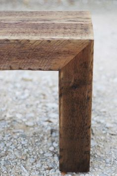 barn timber bench