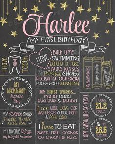 Twinkle Twinkle Little Star, Glitter Birthday Chalkboard, Glitter Birthday, Mermaid Birthday, Unicorn Birthday, Girl Birthday, Birthday Ideas, Unicorn Party, Birthday Decorations, Birthday Photos, Birthday Cake