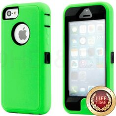 Amazon.com: myLife (TM) Lime Green + Black 3 Layer (Hybrid Flex Gel) Grip Case for New Apple iPhone 5C Touch Phone (External Full Body Defen...
