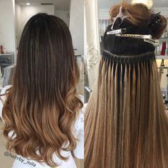 Want to get long term solutions to lengthen your hair? is the perfect and best hair extension method that offers you lengthy hair without damaging your natural. Book an appointment today with and get it done from experienced hairstylists. Beauty Works Hair Extensions, Permanent Hair Extensions, Micro Bead Hair Extensions, Types Of Hair Extensions, Hair Extensions For Short Hair, Red H, Hair Extension Care, Hair Extensions Before And After, Hair Pieces