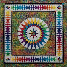 """Summer Dream quilt, 62 x 62"""", by Jacqueline de Jonge 