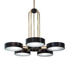 The Abbott Five Light Chandelier Traditional, Transitional, MidCentury Modern, Contemporary, Industrial, Organic, Glass, Metal, Ceiling by Studio Van Den Akker