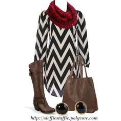 Chevron Dress and Boots :)