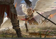 Johannes Voss Concept Art and Illustration High Fantasy, Fantasy World, Fantasy Artwork, Art And Illustration, Grafik Art, Angel Warrior, Concept Art World, Angels And Demons, Fantasy Characters