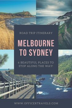 There's so many beautiful places to stop between Melbourne and Sydney it's hard to know where to choose! These are just 6 of our favourites. If you're taking a road trip to Sydney or Melbourne any time soon, you'll love these! Tasmania Australia, Australia Tourism, Australia Travel Guide, Western Australia, South Australia, Australia 2018, Melbourne Australia, Cairns, Newcastle