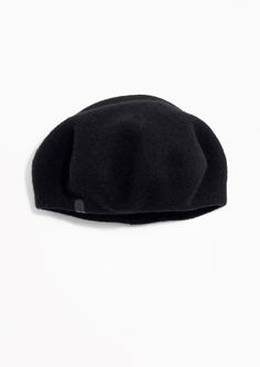 & Other Stories Wool Beret  in Black