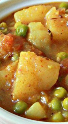Potato Peas Curry - Aloo Matar