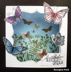This Gorgeous Card was made by Georgina Ford using Hobby Art stamp set Butterflies