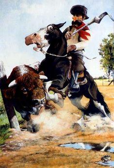 florencio molina campos montefusco - Buscar con Google Cowboy Art, Rio Grande Do Sul, Western Art, Horse Art, Caricature, Cowboys, Samurai, Westerns, Folk