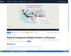 "Paleta de Intelingencias Múltiples Temática  ""La Primavera"" http://recursosdeunalogopeda.blogspot.com.es/2017/03/paleta-de-inteligencias-multiples.html"