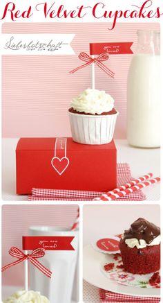 cupcake topper valentine
