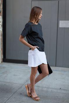 Portia Skirt - White Brocade | Emerson Fry