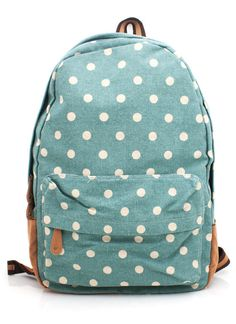 Polka Dots Backpack! Absolutely want this!!!!! Cutest backpack I've ever seen!!!! Need it for school!!!!!!!!!!