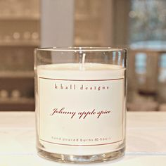 Johnny Apple Spice candle made by American farmers. A delightful scent all year round for that fresh baked pie appeal as well as a natural for the Holiday season.