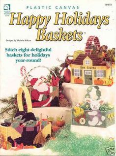 Ideas basket plastic canvas book for 2019 Plastic Canvas Books, Plastic Canvas Crafts, Plastic Canvas Patterns, Holiday Baskets, Weaving Wall Hanging, Craft Free, Christmas Minis, Basket Decoration, Flower Basket