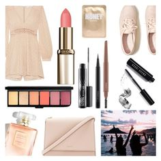 """""""Summer adventure"""" by dreamingdaisy ❤ liked on Polyvore featuring Zimmermann, Hollister Co., Kate Spade, Bobbi Brown Cosmetics, MAC Cosmetics and Lapcos"""