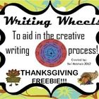 T'giving Writing Wheel**  The children simply spin the 3 wheels to find a character, action, and setting.. then the creative writing can begin!  The writing wheel can be used during your writing workshop time, work on writing time, or put in a center!